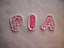 Applikation/Aufnäher Buchstabe 4,5 cm rosa/pink/weiß