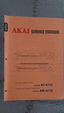 Akai at-k110 am-u110 Service Manual stereo tuner amp original repair book