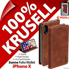 Krusell Sunne Cartera de Piel Genuina Soporte Funda Libro para Apple Iphone X