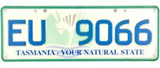 Tasmania Island Australia License Plate #EU-9066 NATURAL STATE TIGER GRAPHIC