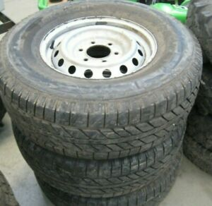 MICHELIN SYNCHRONE 275/70R16 PART WORN TYRES USED WITH RIMS, LOT OF 3 TYRES