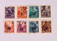 Briefmarken DDR Fünfjahrplan (435-442) mit Überdruck,gestempelt