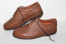 Portugal Wingtip Lace Loafers, #81140, Brown, Leather, Men's US Size 11