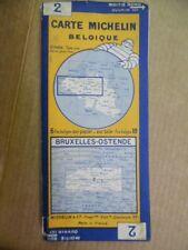 c.1920s Carte Michelin Belgique No. 2 Belgium Map Michelin Man Vintage ORIGINAL