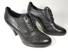 Janet D black leather high heel shoes uk 3 eu 36 super condition