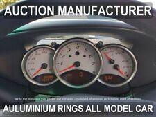 Porsche Boxster 986 96-04 Dashboard Gauge Dash Chrome Dial Aluminium Rings 3psc