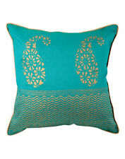 Faux Silk Paisley Art Deco Decorative Cushions & Pillows