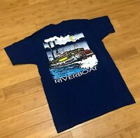 Vintage Mississippi Riverboat Casino Shirt Single Stitch USA Men's Large 90s