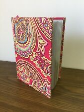 Raymond Waites Pink Floral Paisley Print Fabric Cover Journal Book Hard Back