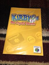 Kirby 64: The Crystal Shards (Nintendo 64, 2000)MANUAL ONLY