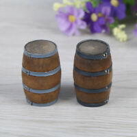 1Pcs 1:12 Dollhouse miniature wooden red wine barrel simulation model toys Dz