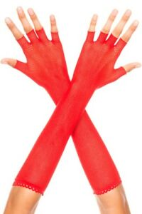 sexy MUSIC LEGS long mid-arm LENGTH fishnet FINGERLESS long NET gloves 80's PUNK