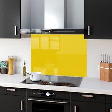 Shades Of Yellow Toughened Glass Kitchen Splashback Panels Any Size & Colour New