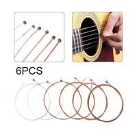 Set of 6 Acoustic Classic Steel Guitar Strings Light Gauge Replacement UK