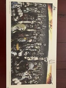 Disturbed Autographed Signed Poster Ten Thousand Fist By Todd McFarlane
