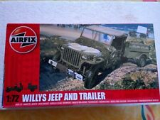 """AIRFIX 1:72 A01322 """"Willys Jeep And Trailer"""" Hornby"""