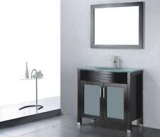 Wenge Single Glass Bathroom Vanities