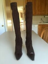 b0aa56caa2b Women s Brown Suede and Leather Manolo Blahnik Boots Size 39.5