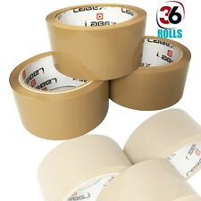 "36 x LABEX PACKING PARCEL TAPE ROLL BROWN TAPE 48MM 2"" X 66M BARGAIN DEAL CHEAP"