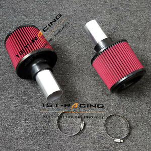"""2.25"""" N54 Air Filters Dual Cone Intake Filters for BMW 135i 335i 535i 535Xi Z4"""