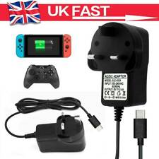 For Nintendo Switch Mains Adaptor/Adapter Charger UK Plug Type C Charging Power