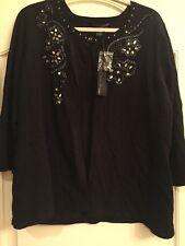 Elena Solano Black Size 1X Knit Sweater