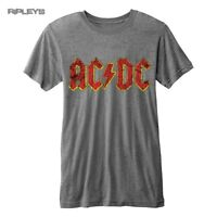 Official T Shirt ACDC AC/DC Classic Red Distressed Logo   Burnout All Sizes