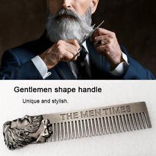 Beard Comb Mens Shaving Pocket Comb Male Stainless Steel Mustache Brush ML