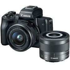 Canon EOS M50 Mirrorless Digital Camera Black with 15-45mm and 28mm IS STM Lens
