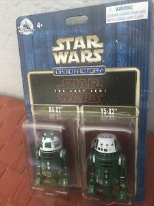 Star Wars 2017 Disney Droid Factory R4-X2 & Y5-X2 The Last Jedi Astromech 2-Pack