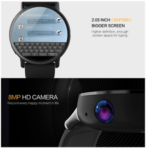 LEMFO LEM X 4G Smart Watch Android 7.1 With GPS Sim Card WIFI 2.03 Inch Screen 8