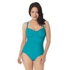 Belvia Shapewear SlimSwim Swimsuit (16-18, Turquoise)