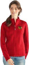 G-III Women's Chicago Blackhawks Crossover Full Zip Jacket, Red, Large