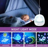 Baby LED Nachtlicht Einschlafhilfe Mit 8 Film Projektor Sternenhimmel Nachtlampe