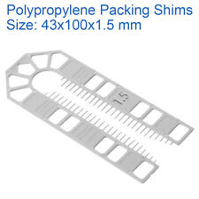 1.5mm WHITE 43mm x 100mm PLASTIC PACKERS U SHIMS PAILS POLYPROPYLENE SPACERS
