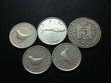 Croatia coins- 5 KUNA 1994 , 2 KUNE 2013, 1 KUNA 2012, 1 KUNA 2014- 5 PCS !!!