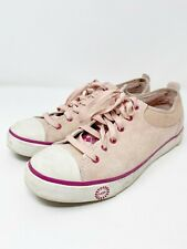 UGG Pink EVERA Suede Leather Lace Up Shoes Sz 9 Argyle Tongue