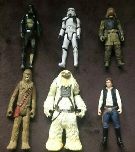 6 x Star Wars Figures & Accessories. Solo,Chewy,Moroff,Storm Troopers. FREE P+P