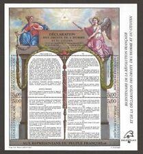 STAMP / TIMBRE BLOC FEUILLET N° 11 ** DECLARATION des DROITS de l'HOMME 1989