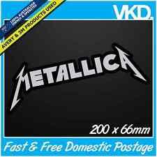 Metallica Sticker/ Decal - Band Music Vinyl Hardcore Heavy Metal Car Fridge Led