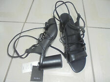 Zara criss cross leather Shoes Size 7 bnwt