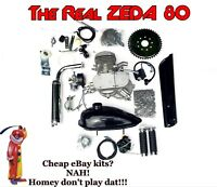 ZEDA 80 silver 66/80cc Bicycle Engine Kit for Motorized Bicycle