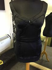 Guess Jeans Vest Top Black Silk/Elastane
