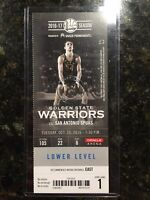 2016-17 Golden State Warriors NBA Official Mint Ticket Stubs - pick any game!