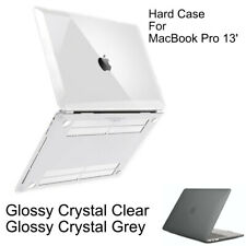 Glossy Crystal Clear Hardshell Case Cover for MacBook Pro 13 A2251 A2289 A2159