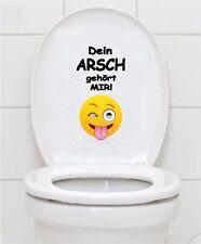 WC Aufkleber Smilie Emoji Smiley Toilette Badezimmer Fliesen Bad Wandtattoo A070
