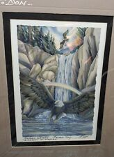 Jody Bergsma Matted 10x8 Print Tribal Eagle Personal Gift To Don Signed Note