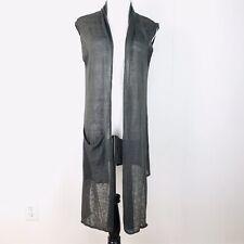 Bryn Walker Small Gray Linen Long Edmund Sweater Vest Moor NWT