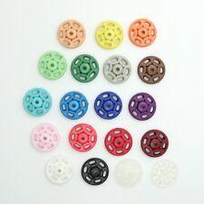 13 & 15 mm Ø Kunststoffdruckknöpfe, Druckknopf Kunstoff zum annähen, 16 Farben
