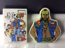 2 Rare 1980s Rubbers/erasers Mr T Designed